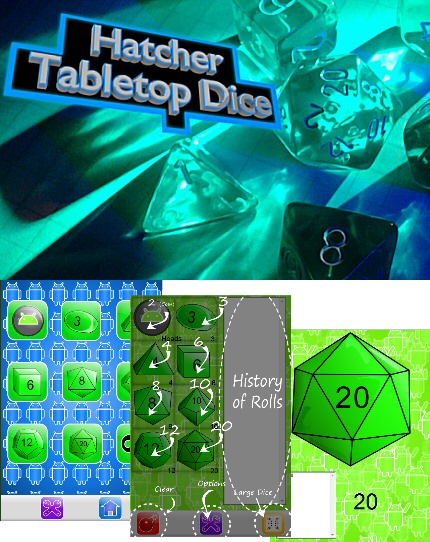 Hatcher Tabletop Dice Screenshot